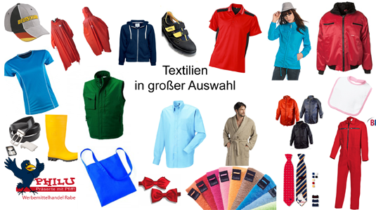 Textilien in großer Auswahl
